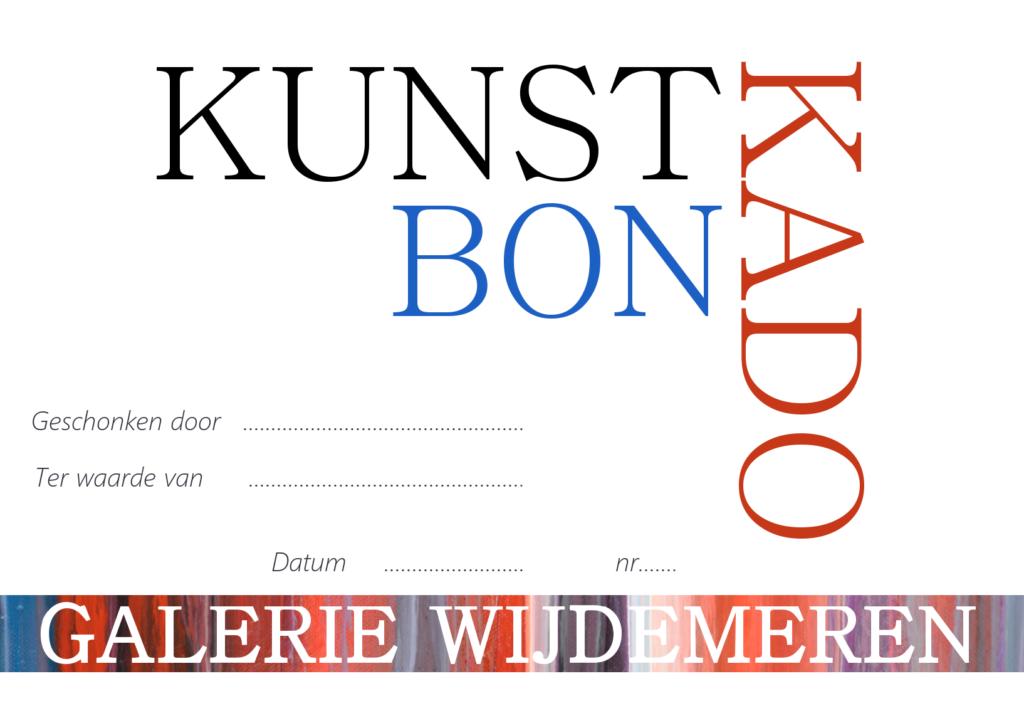 Kunst Kado Bon Galerie Wijdemeren, kunst cadeaubon