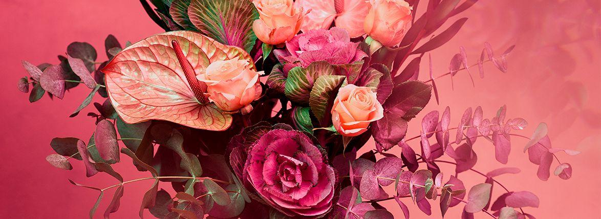 C5010-1 Wytske van Urk, Bloemstilleven roze, 60x85cm, fotografie (fotoafdruk op fine art paper)