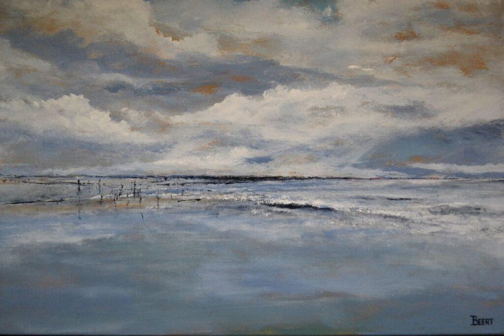 Schilderijen te koop van kunstschilder Beert Hennephof Texel olie op doek, 60 x 80 cm, Expositie Galerie Wijdemeren Breukeleveen