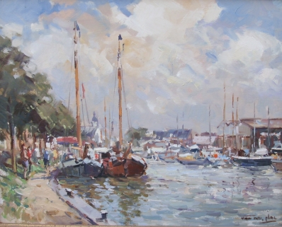 Schilderijen te koop, kunstschilder Niek van der Plas olie op paneel, gesigneerd, Expositie Galerie Wijdemeren Breukeleveen
