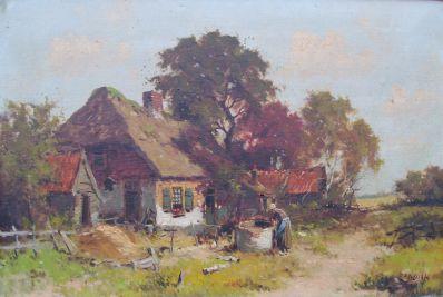 Kunstenaar H. Bylaert 2134, H. Bylaert olie op doek 40 x 60 cm verkocht
