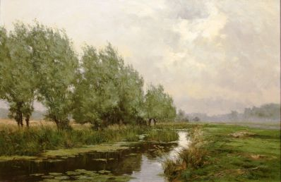 Kunstenaar Frits J. Goosen 2297, Frits Goosen Nieuwer ter Aa Olie op doek, 50 x 70 cm gesigneerd l.o. F.J. Goosen verkocht