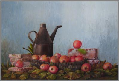 Kunstenaar Ineke Wisselink nr. 2394, Ineke Wisselink olie op paneel, 58 x 85 cm