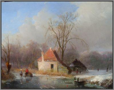 Kunstenaar Antonius Renardus Rietstap 2625 A.R. Rietstap In de winter olie op paneel gereserveerd