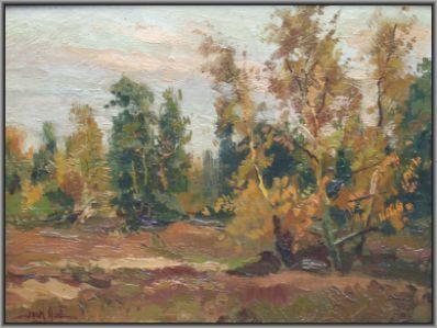 Kunstenaar Jack Aué 3174 Jack Aue bosgezicht linksonder gesigneerd