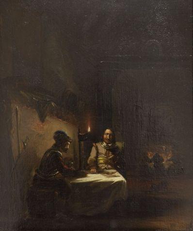Kunstenaar Johannes Mattheus Bogman 3233, J.M. Bogman Portret Olie op paneel, 30 x 18 cm
