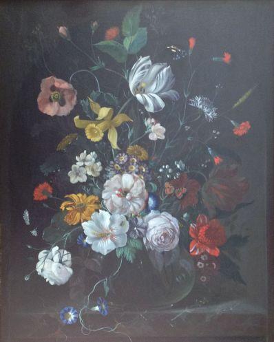 Kunstenaar Frans Xaver Pieler 3666, F.X. Pieler pronkstilleven olie op paneel, ca. 60 x 50 cm