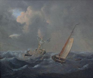 Kunstenaar Joseph Sipkes 3935-1 & 2, Joseph Sipkes Olie op paneel, beeldmaat : 27 x 32 cm per paneel