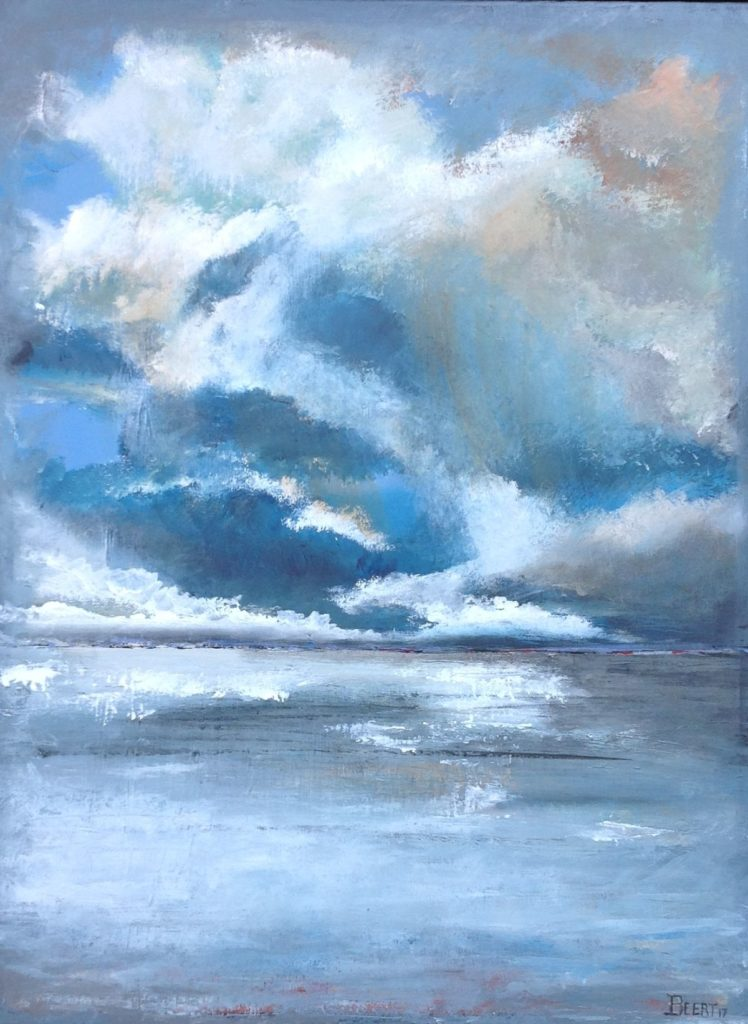 Schilderijen te koop van kunstschilder Beert Hennephof Reflections olie op doek, 80 x 60 cm., Expositie Galerie Wijdemeren Breukeleveen