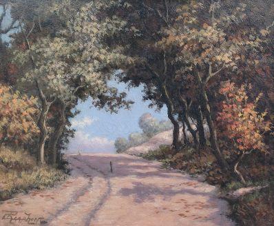 Schilderijen te koop van kunstschilder Cornelis Raaphorst landschap Wassenaar de Klip weg strand Wassenaarsslag, Expositie Galerie Wijdemeren Breukeleveen
