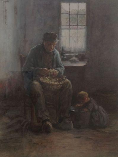Kunstenaar Hendrik Valkenburg 4422, Hendrik Valkenburg 54 x 42 cm