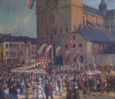 Kunstenaar Heinz Kroh 4516 Heinz Kroh 'Köln 1881' r.o. gesigneerd particuliere collectie dit werk was voorheen te koop
