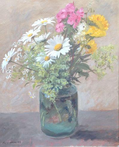 Kunstenaar Flip Hamers 5749, Flip Hamers bloemstilleven  verkocht