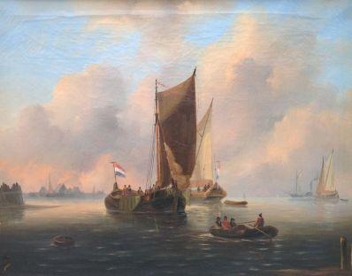 Kunstenaar G. van Emmerik 5893, Govert van Emmerik 'Zeegezicht' Verkocht