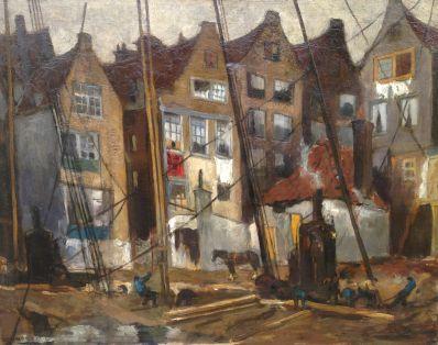 Kunstenaar Marie H. Mackenzie 5947 M.H. Mackenzie bouwwerkzaamheden in de stad verkocht
