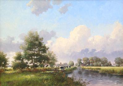 Kunstenaar Gert-Jan Veenstra 7112, Gert-Jan Veenstra olie op doek, 50 x 70 verkocht