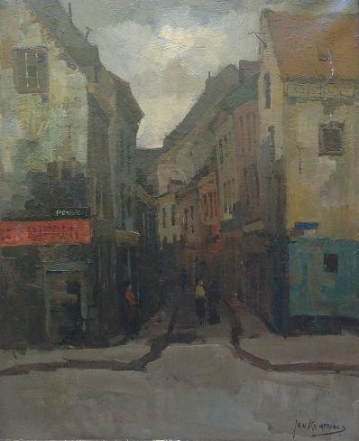 Schilderijen te koop, kunstschilder Jan Korthals Maastricht olie op doek, gesigneerd gereserveerd, expositie Galerie Wijdemeren Breukeleveen