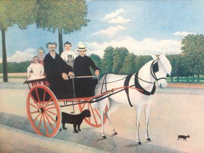 Kunstenaar Henri Rousseau 7261, Henri Rousseau Het rijtuig verkocht