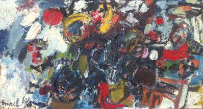 Kunstenaar Johannes Nicolaas van Empel 7268, Jan van Empel Abstract Olie op doek Verkocht