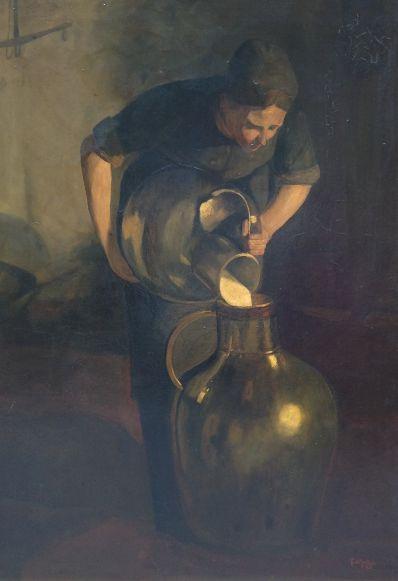 Kunstenaar Pieter in t Hout 7273, Pieter in't Hout genrestuk r.o. gesigneerd particuliere collectie