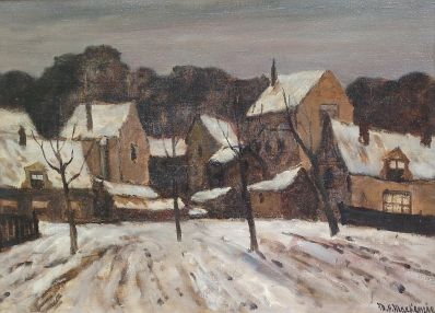 Kunstenaar Marie H. Mackenzie 7415 M.H. Mackenzie Winter Verkocht