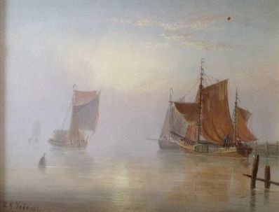 Kunstenaar Edward King Redmore 7493, Edward King Redmore zeegezicht olie op paneel