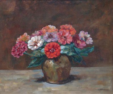 Schilderijen te koop van kunstschilder Emanuel van der Ven bloemstilleven olie op doek, gesigneerd, Expositie Galerie Wijdemeren Breukeleveen