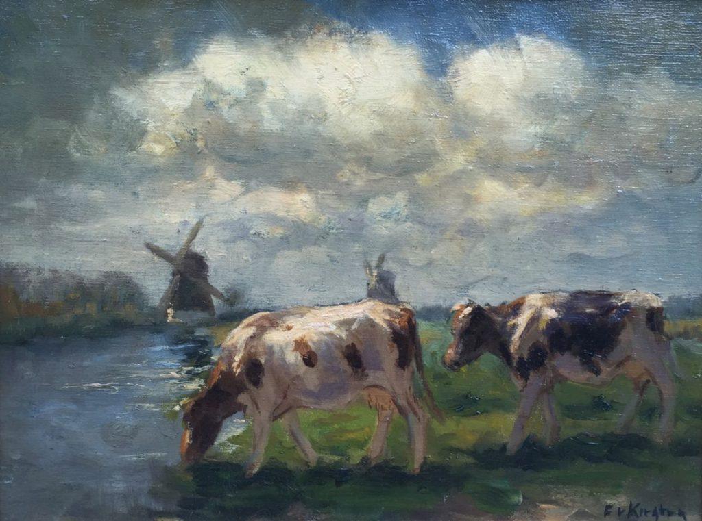 Kunstenaar Fedor van Kregten 7508, Fedor van Kregten olie op doek verkocht