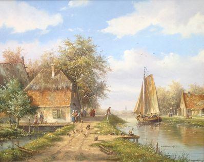 Kunstenaar Dick de Vries 7525-1, Dick de Vries, Beeldmaat: 22 x 28 cm Verkocht