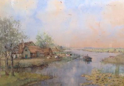 Kunstenaar Herman C.A. Paradies 8164, H.C.A. Paradies aquarel, gereserveerd