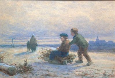 Kunstenaar Theodoor Soeterik 8280, Theodoor Soeterik ijsgezicht aquarel
