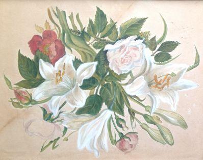Kunstenaar Ida Petronella van Lokhorst 8328, Ida Petronella van Lokhorst Bloemstilleven  Verkocht