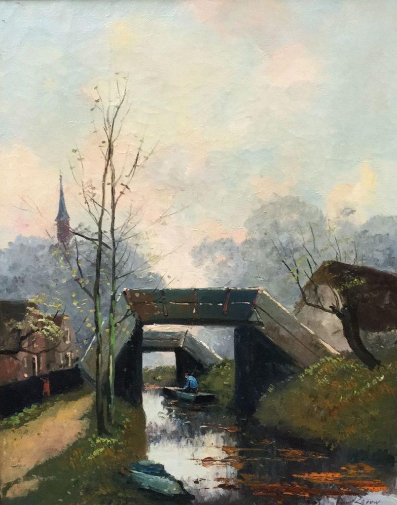 Schilderijen te koop van kunstschilderAdriaan Christian W. Terhell Giethoorn olie op doek, doekmaat 51 x 40,5 cm rechtsonder gesigneerd, Expositie Galerie Wijdemeren Breukeleveen