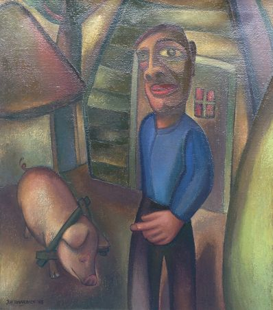 Kunstenaar Johan Traarbach 8526, Johan Traarbach,