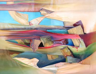 Kunstenaar Dinand nr. 8672-1, Dinand,  Houtcollage
