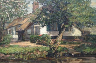 Kunst te koop bij Galerie Wijdemeren van kunstschilder L.P. Versteeg huize