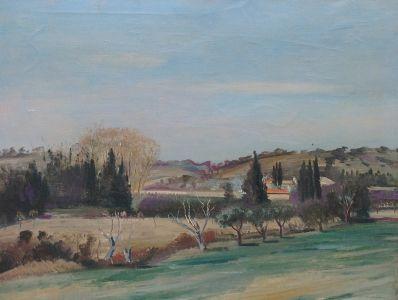 Kunstenaar Jan Jurien Moolhuizen 9140, J.J. Moolhuizen Landschap olie op doek, 50 x 65 cm r.o. gesigneerd