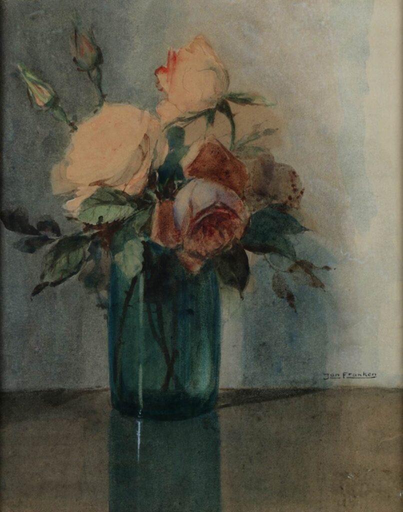 Kunstenaar Jan Franken 9408, Jan Franken (1878-1959) r.o. gesigneerd, aquarel, 30 x 24 cm