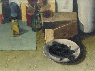 Kunstenaar Bob van Walderveen 9466, Bob van Walderveen stilleven olie op doek, 30 x 40 cm verkocht