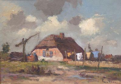 Kunstenaar Frans Simon Hoos 9605, Frans Hoos r.o. gesigneerd verkocht