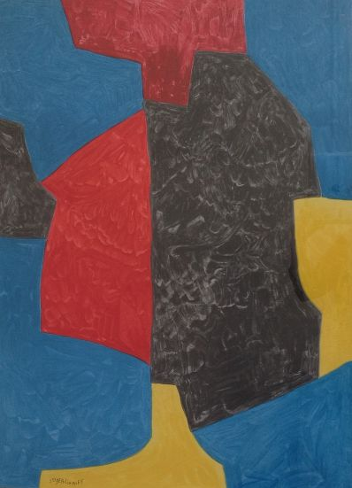 Kunstenaar Nicolas Poliakoff 9713, Nicolas Poliakoff, Abstracte voorstelling 1975 verkocht