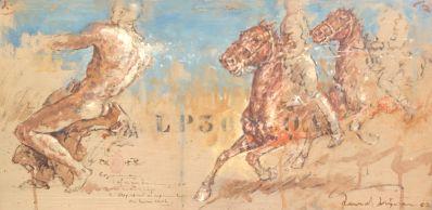 Kunstenaar Ruud Krijnen 9729, Ruud Krijnen r.o. gesigneerd