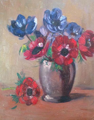 Kunstenaar Willem Frederik Daniels 9858-1B, W.F. Daniels Bloemstilleven