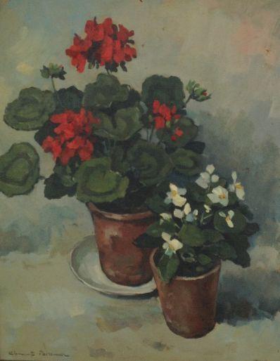 Kunstenaar Clement Bezemer 9943, Clement Bezemer Bloemstilleven l.o. gesigneerd verkocht