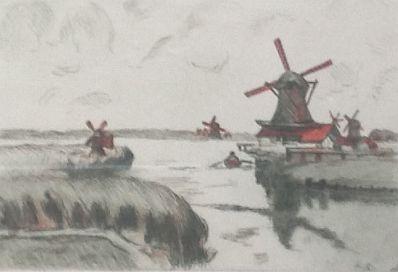 Kunstenaar Armand Guillaumin A177, Armand Guillaumin Rue of Saardam verkocht