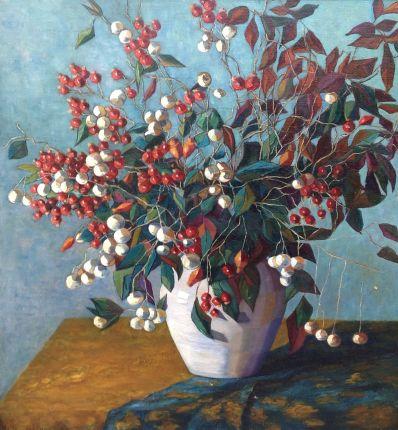 Kunstenaar Nelly Goedewaagen A1977, Nelly Goedewaagen bloemstilleven verkocht