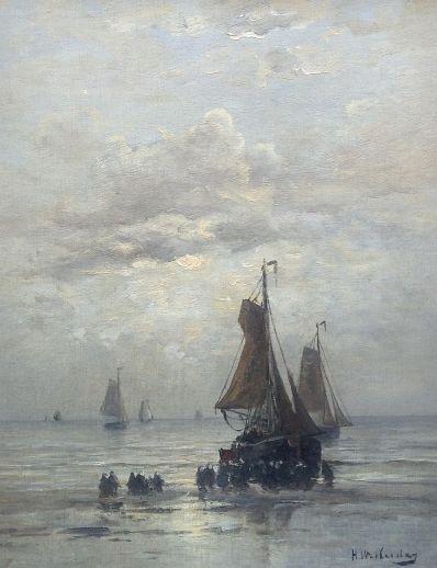 Kunstenaar Hendrik Willem Mesdag A2604, Hendrik Willem Mesdag 51,6 x 40,8 cm r.o. gesigneerd verkocht