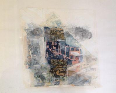 Kunstenaar Jaap Witzenhausen A3693A, Jaap Witzenhausen collage,