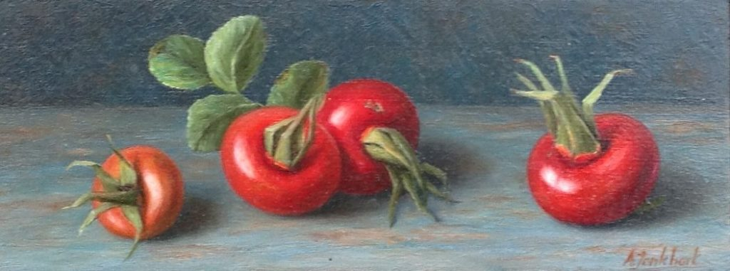A3866 Annelies Jonkhart Rozenbottels verkocht, te koop bij Galerie Wijdemeren Breukeleveen, schilderijen, expositie