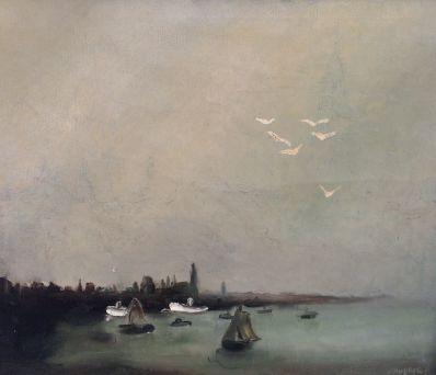 Kunstenaar Egbert Jan Hubertus A4086, Egbert Jan Hubertus r.o. gesigneerd
